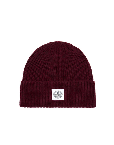 N26A7 Ribbed Wool Hat in Burgundy
