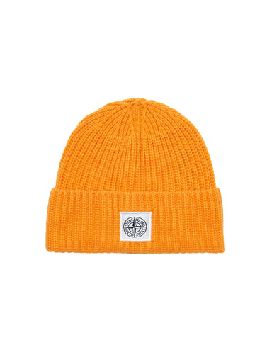 N26A7 Ribbed Wool Hat in Orange