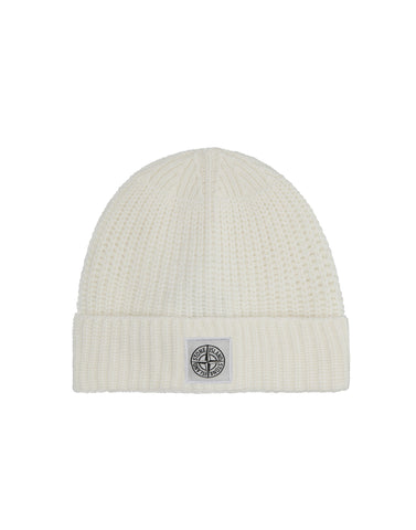 N26A7 Ribbed Wool Hat in White
