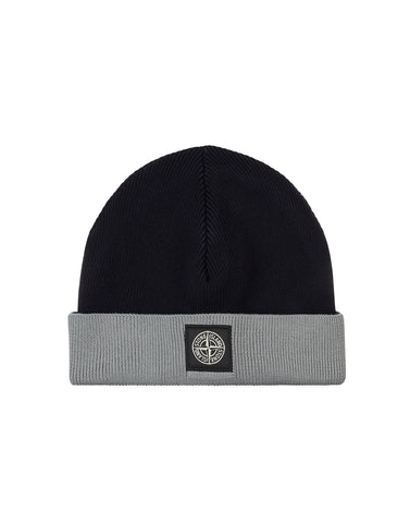 N40A5 Ribbed Cotton Beanie in Navy