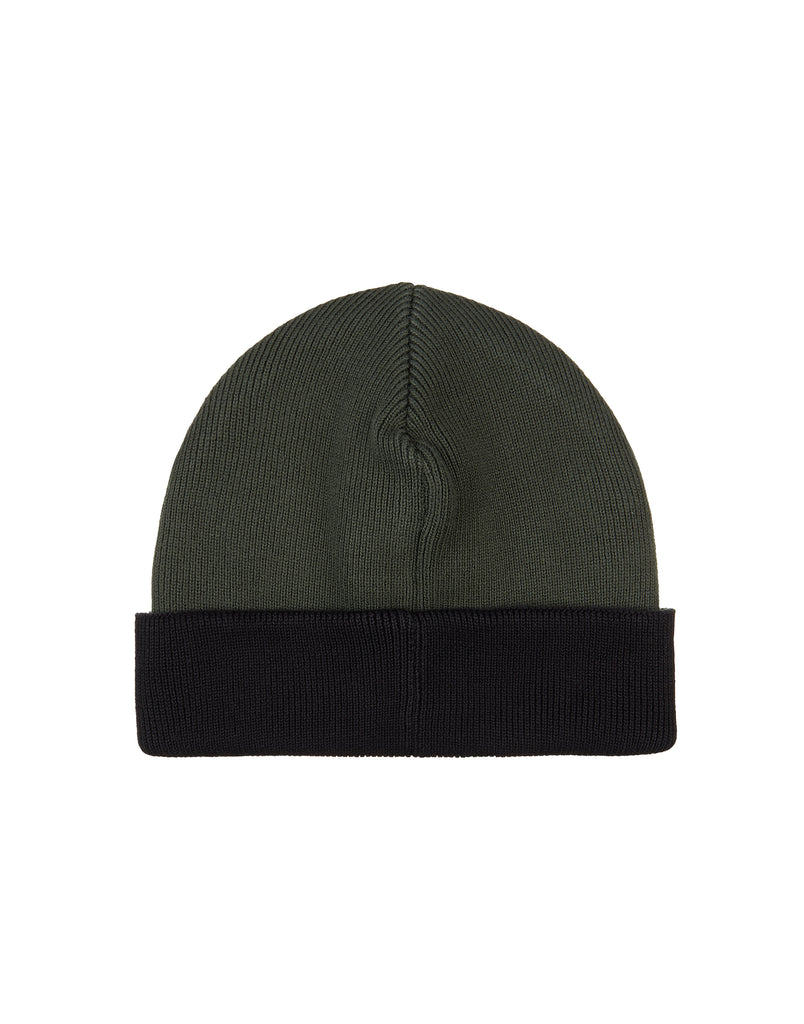 N40A5 Ribbed Cotton Beanie in Khaki