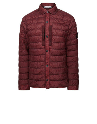 Q0124 GARMENT DYED MICRO YARN DOWN Jacket in BURGUNDY