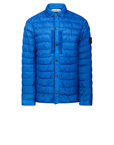Q0124 GARMENT DYED MICRO YARN DOWN Jacket in Blue