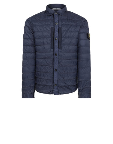 Q0124 GARMENT DYED MICRO YARN DOWN Jacket in Marine Blue