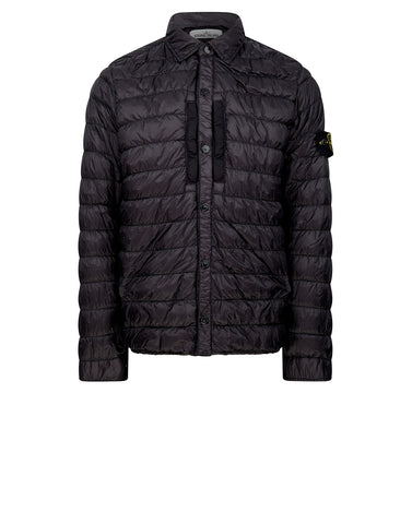 Q0124 GARMENT DYED MICRO YARN DOWN Jacket in Black