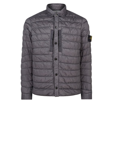 Q0124 GARMENT DYED MICRO YARN DOWN Jacket in Charcoal