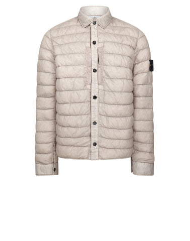 Q0124 GARMENT DYED MICRO YARN DOWN Jacket in Grey