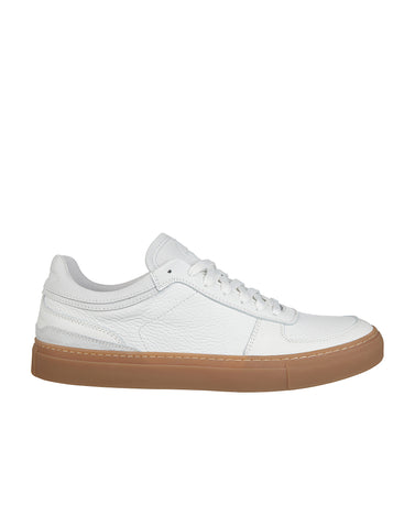S0260 Leather Tennis Sneakers in White