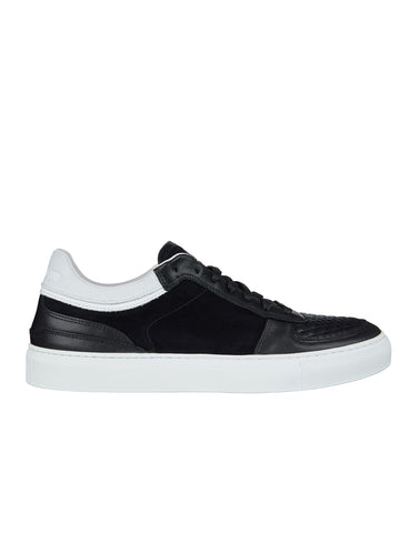 S0263 Quilted Leather Sneakers in Black