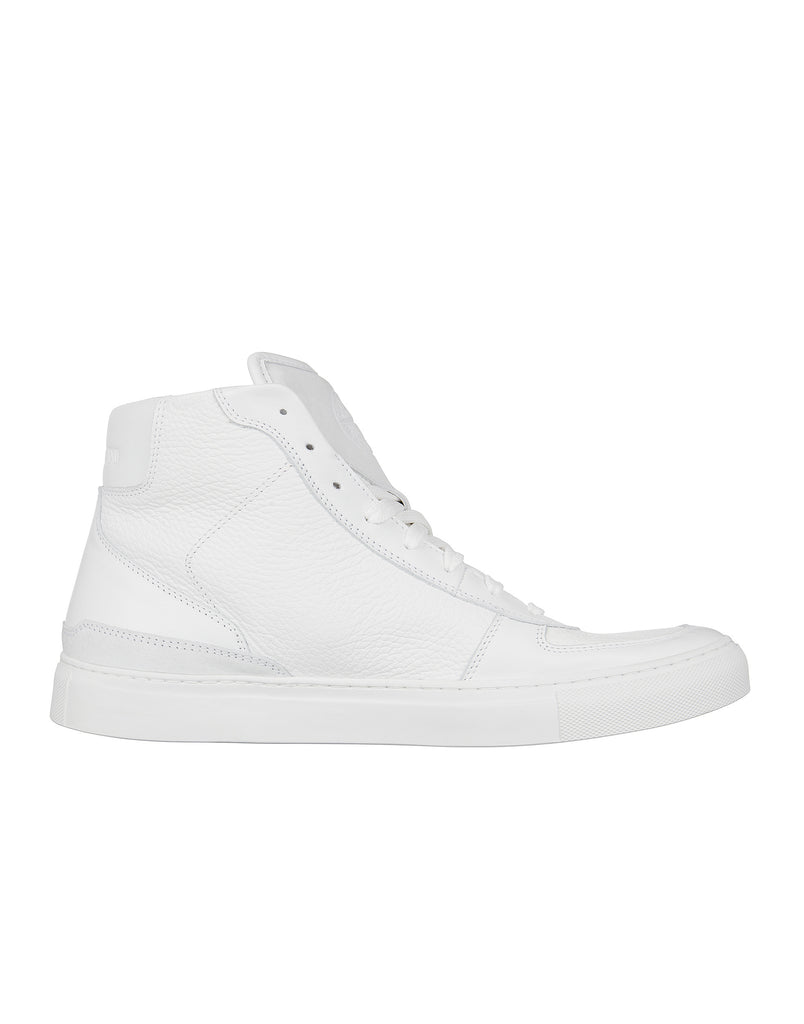 SO466 Leather Ankle Boots in White