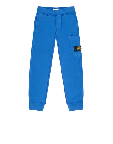 61740 Garment  Dyed Cotton Fleece Track Pants in Light Blue