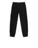 61740 Garment  Dyed Cotton Fleece Track Pants in Black