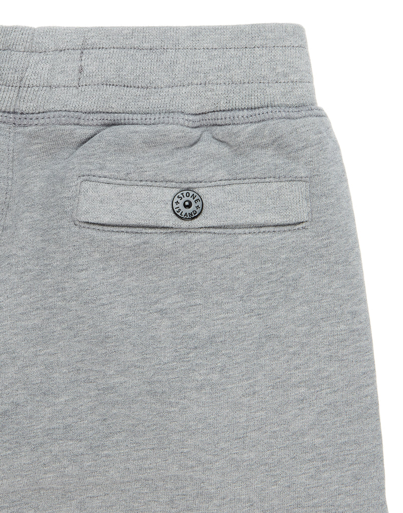 61740 Garment  Dyed Cotton Fleece Track Pants in Marl Grey
