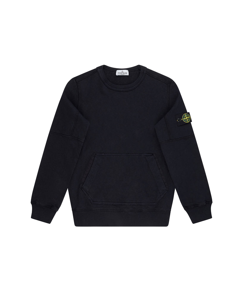 62943 Crew Neck Pouch Pocket Sweatshirt in Navy