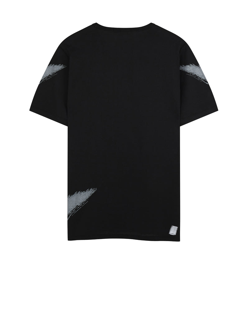 20110 PRINTED SS CATCH POCKET-T in Black