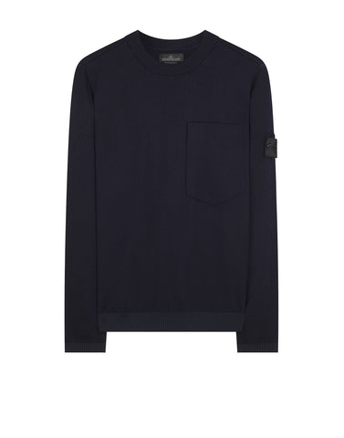 504A5 CATCH POCKET CREWNECK in Navy