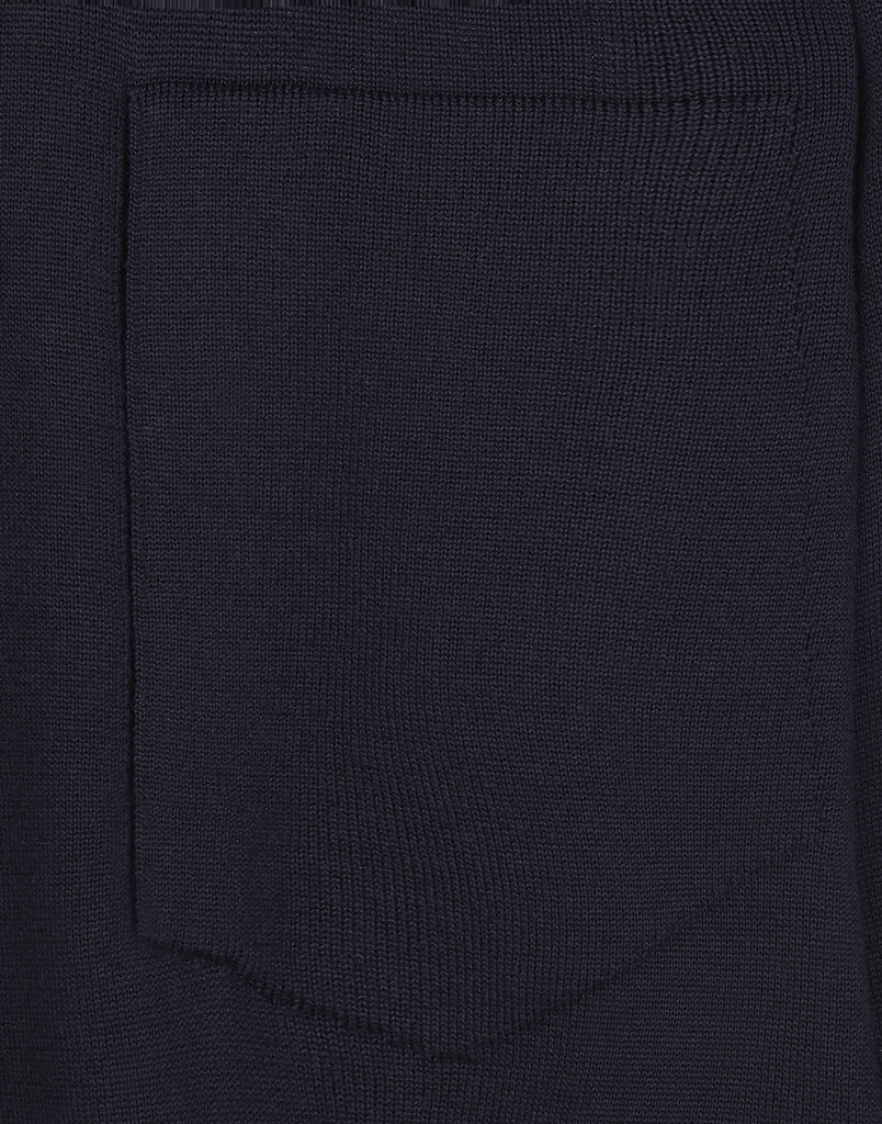 504A5 CATCH POCKET CREWNECK KNITWEAR in Navy