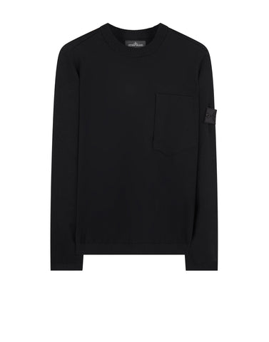 504A5 CATCH POCKET CREWNECK Knitwear in Black