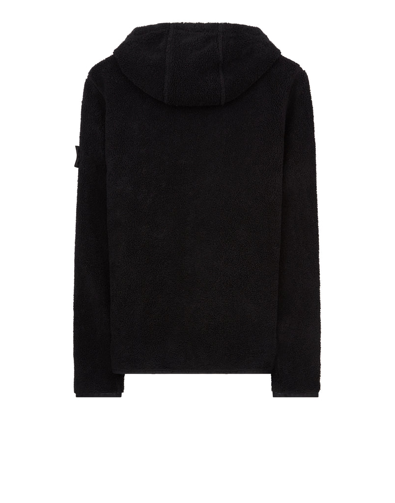 60306 HOODED SWEATSHIRT WITH DROP POCKETS in Black