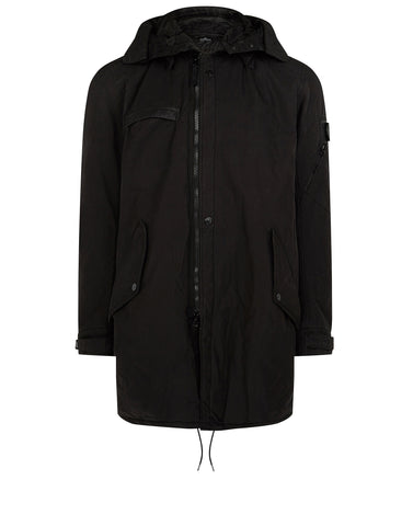 70412 PADDED FISHTAIL PARKA in Black