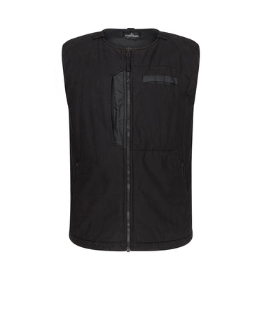 G0112 PADDED VEST WITH 2 LAYER FABRIC in Black