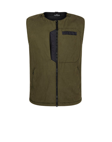 G0112 PADDED VEST WITH 2 LAYER FABRIC in Green