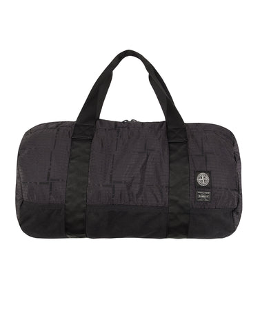 913P1 STONE ISLAND/PORTER HOUSE CHECK NYLON METAL Duffle Bag in Black
