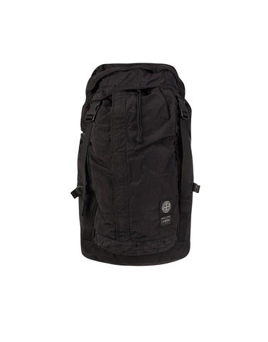 914P1 STONE ISLAND/PORTER HOUSE CHECK NYLON METAL Backpack in Black
