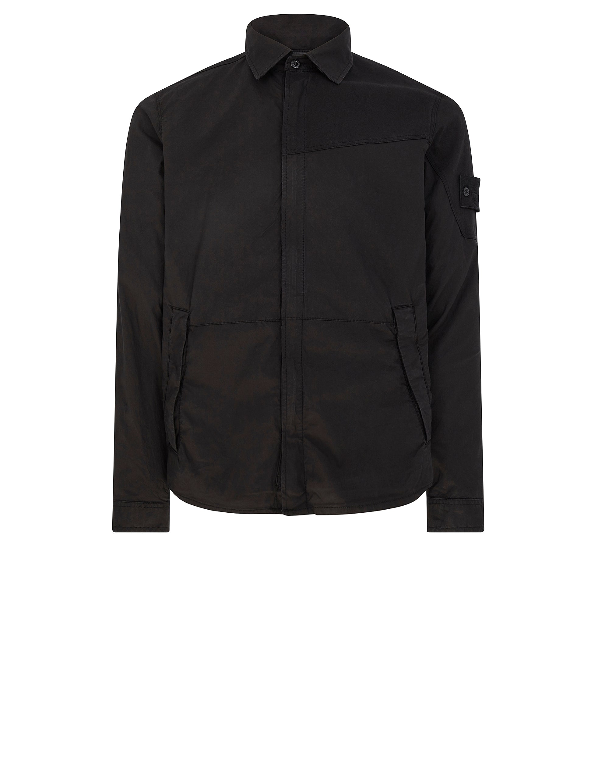 116F3 GHOST PIECE Overshirt in Black