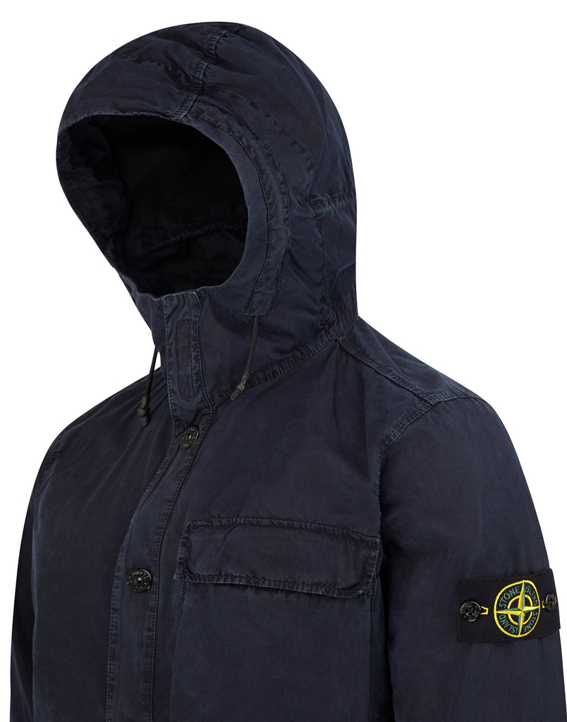 118WN Hooded Overshirt in Navy Blue