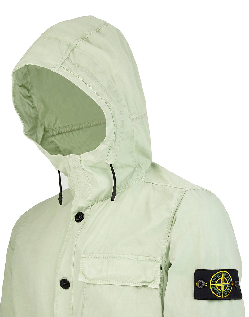 118WN Hooded Overshirt in Light Green