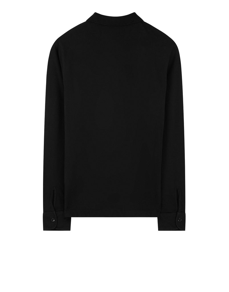 21417 Long Sleeve Polo in Black