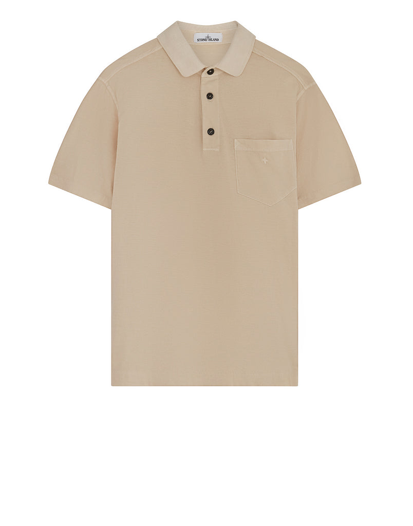 21757 Compass Pocket Polo Shirt in Plaster