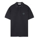 22C15 Cotton Pique Polo Shirt in Blue Grey