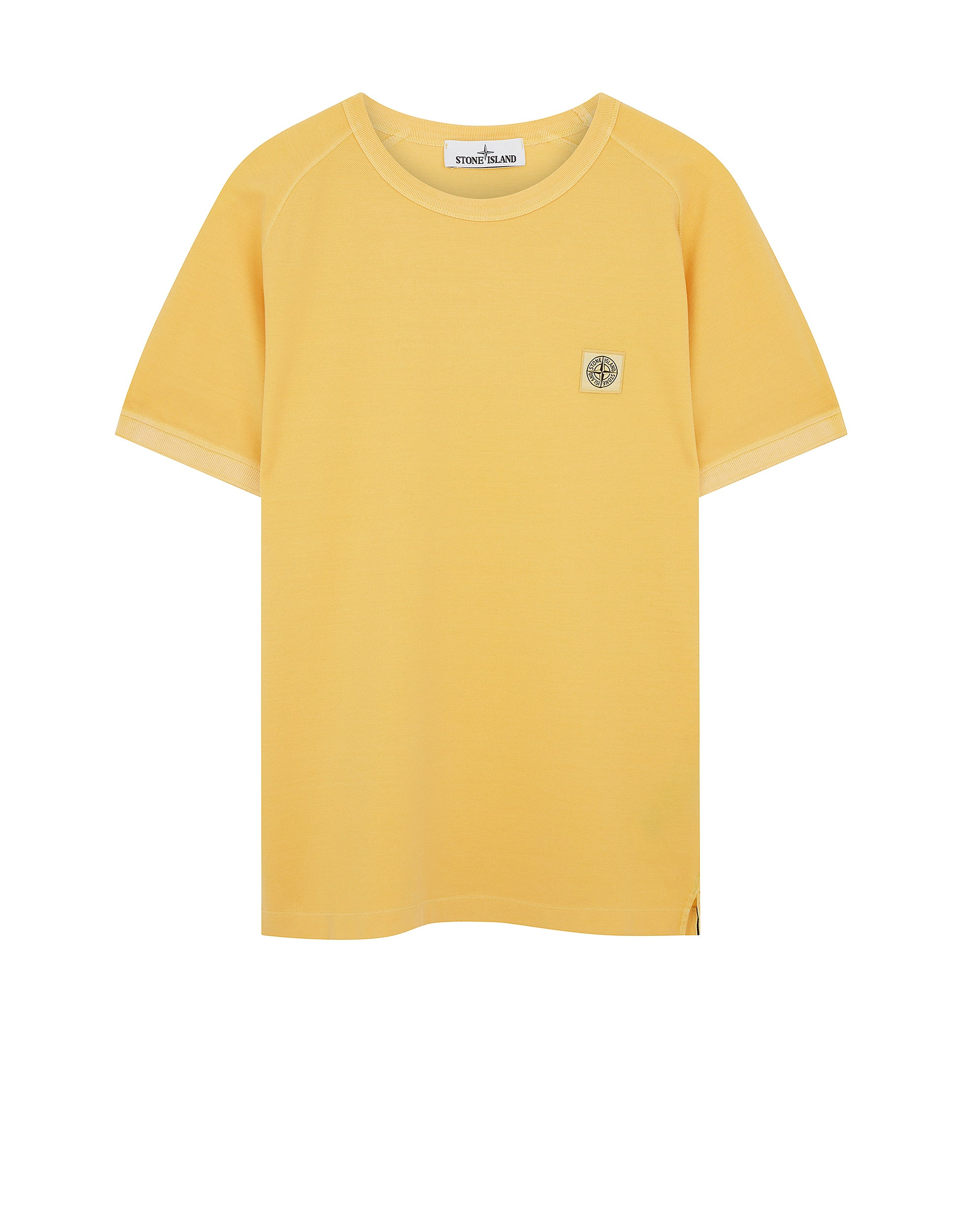 23167 PIGMENT DYE T-Shirt in Yellow