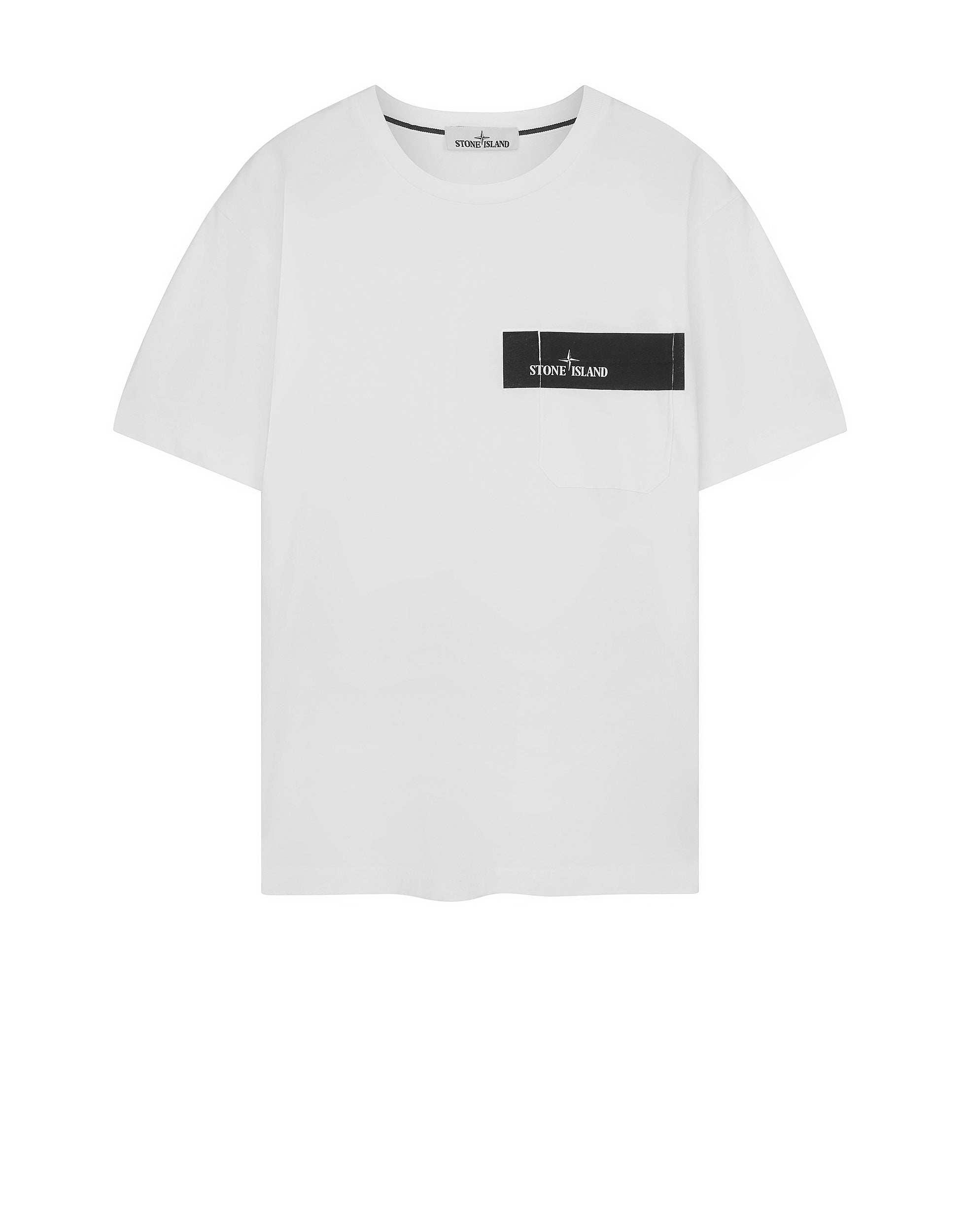 New Stone Island UK | 24794 POCKET LOGO T-Shirt in White | Stone  JY58