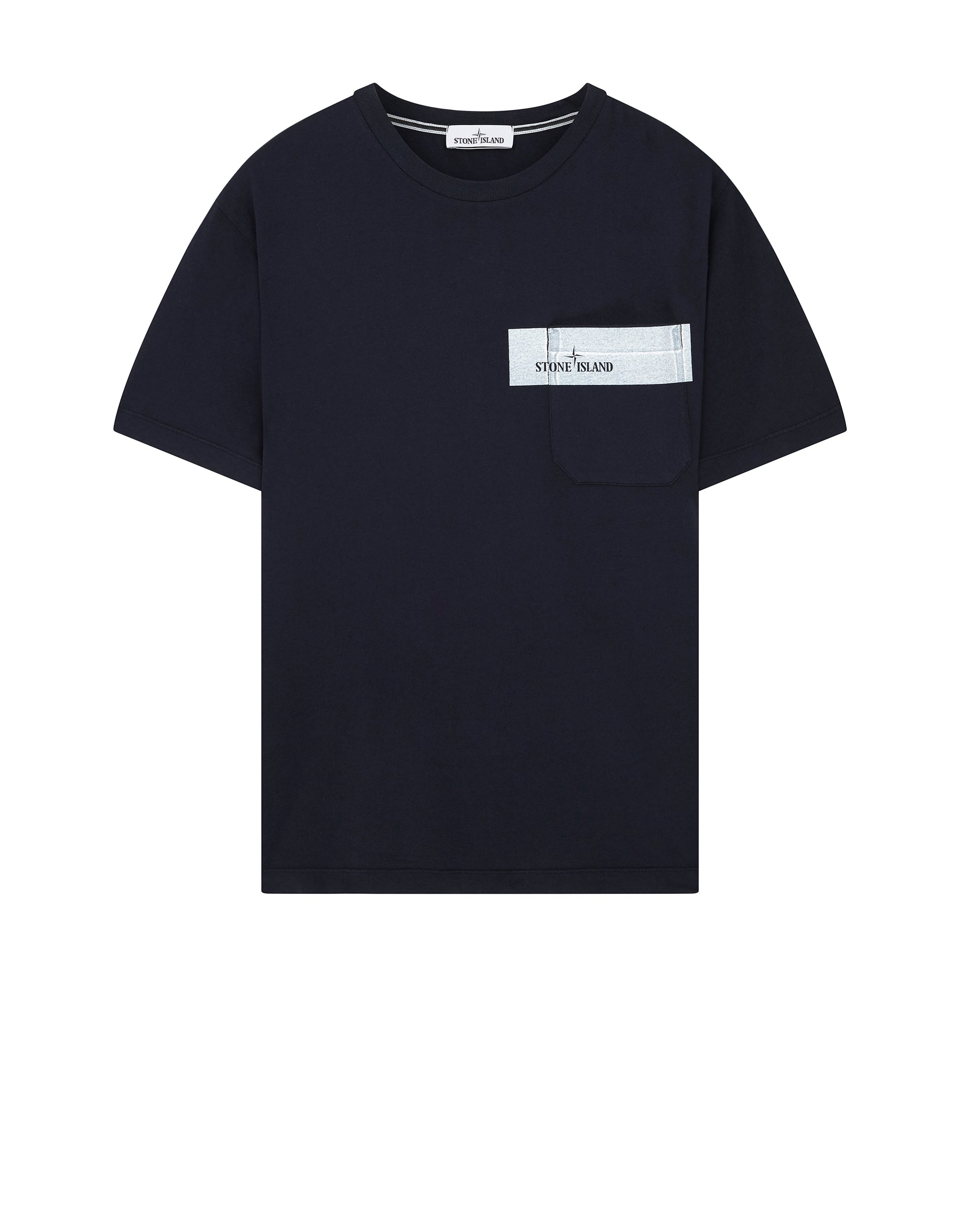 Unique Stone Island UK | 24794 POCKET LOGO T-Shirt in Navy Blue | Stone  HV69