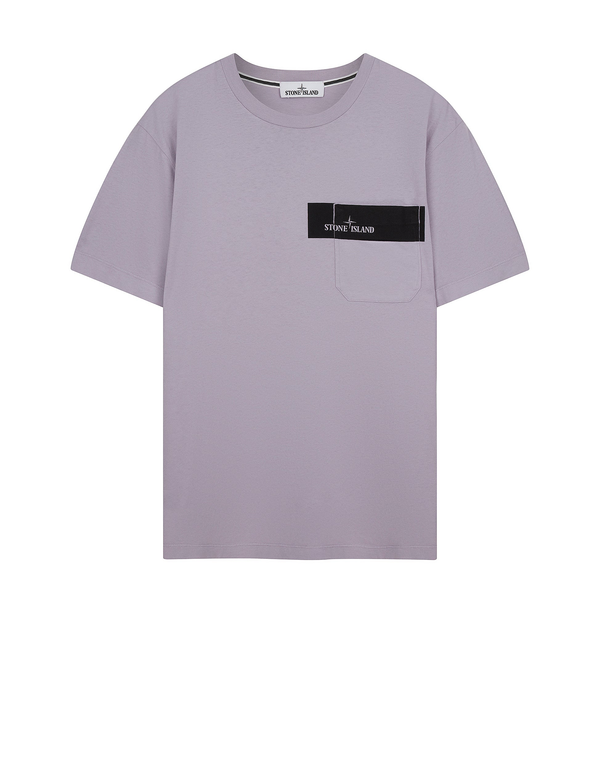 Beautiful Stone Island UK | 24794 POCKET LOGO T-Shirt in Lavender | Stone  RD34