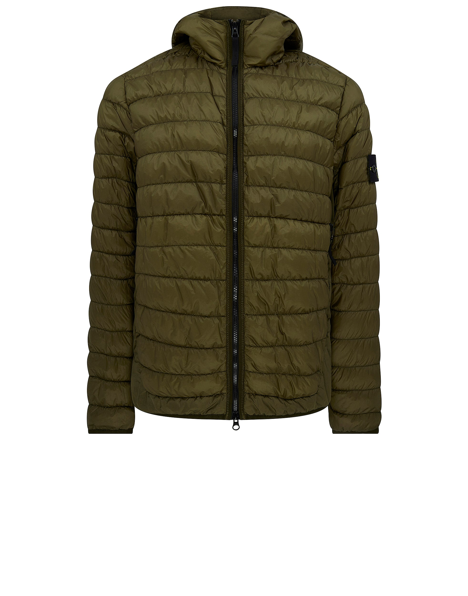 40124 Garment Dyed Micro Yarn Down Jacket in Military Green