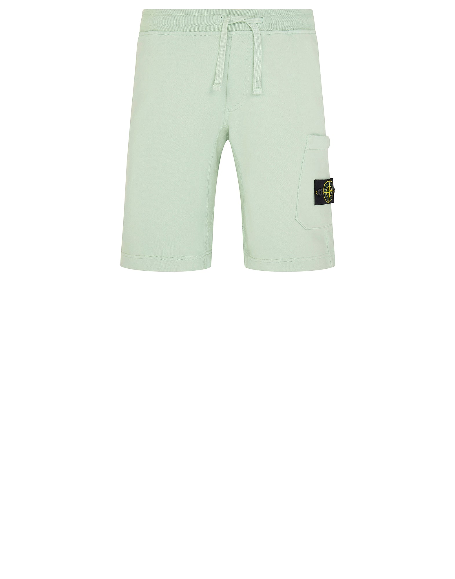 60840 Cotton Fleece Bermuda Shorts in Green
