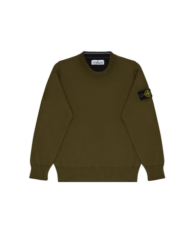 504A4 Crew Neck Knit in Military Green