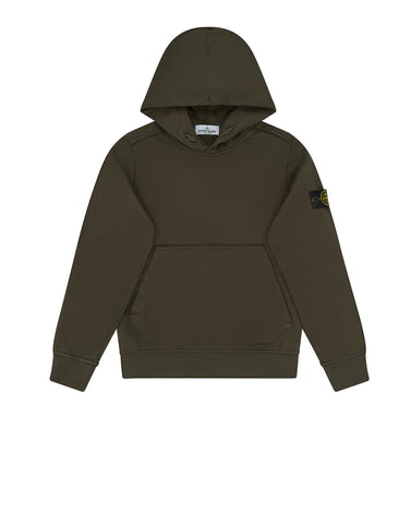 61940 Garment Dyed Hooded Sweatshirt in Military Green