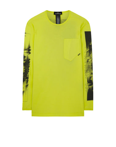 20210 PRINTED LS CATCH POCKET-T 1 T-Shirt in Lemon