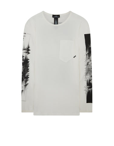 20210 PRINTED LS CATCH POCKET-T 1 T-Shirt in Natural