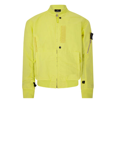 40402 FLANK POCKET BOMBER in Lemon