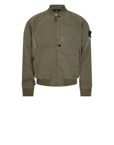 40402 FLANK POCKET BOMBER in Olive