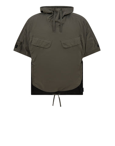 40706 ANORAK SHIRT WITH CHAMBER POCKETS AND ARTICULATION TUNNELS IN OLIVE
