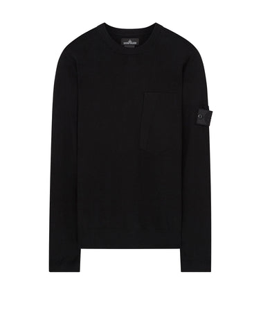 504A3 CREWNECK VENTED SS Knit in Black