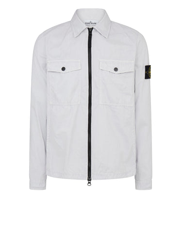 107WN Cotton Rep OLD Effect Overshirt in Ice