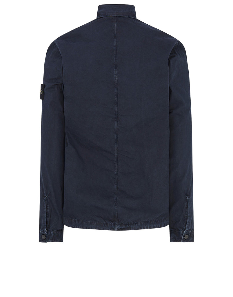 107WN Cotton Rep OLD Effect Overshirt in Navy Blue